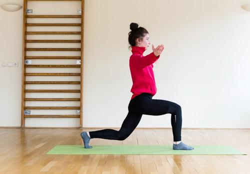 Yogakurs Übung