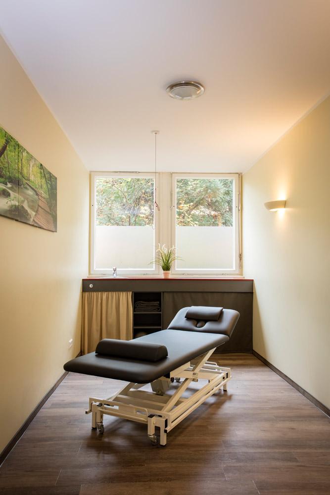 Behandlungsraum in der physiobalance Berlin